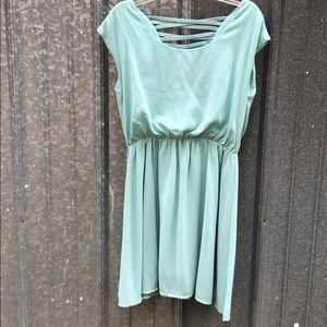 Alythea mint chiffon a-line dress